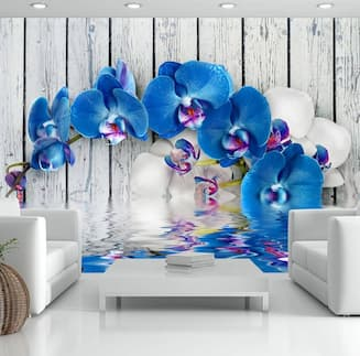 Fototapeta w kwiaty niebieskie