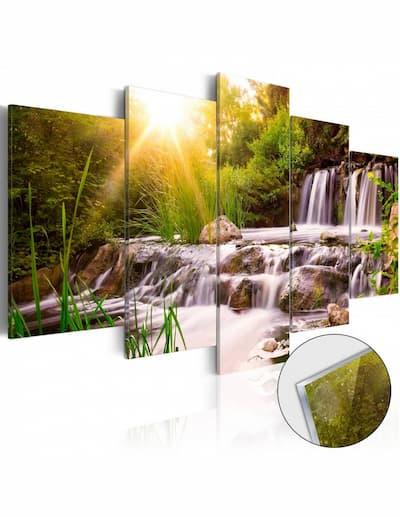 Obrazy na szkle wodospady