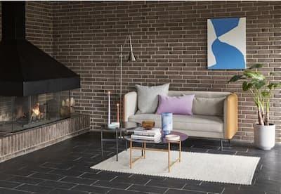 Tapety na ścianę — cegła w stylu skandynawskim