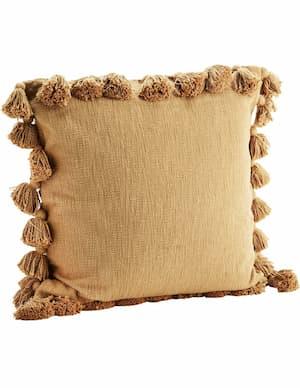 Brązowa poduszka boho