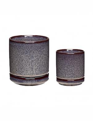 doniczki ceramiczne z podstawką