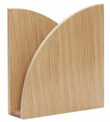 Drewniany stojak na gazety