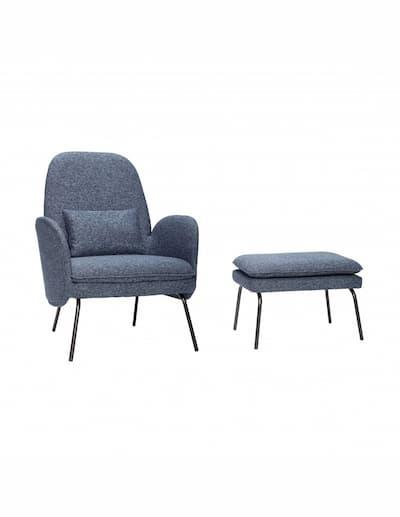 Fotel i pufa marki Hubsch