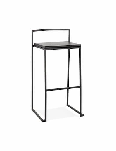 Krzesło barowe industrialne wykonane z metalu z poduszką