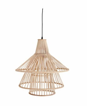 Lampa bambusowa sufitowa do jadalni
