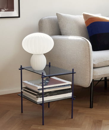 lampa stołowa szklana biała