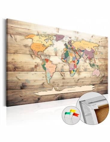 Mapa świata na korku