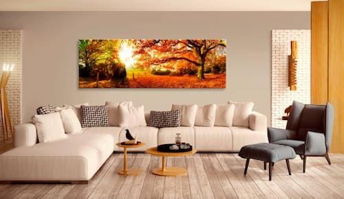 Obrazy jesieni w salonie