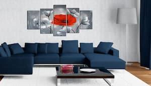 Obrazy maki w salonie